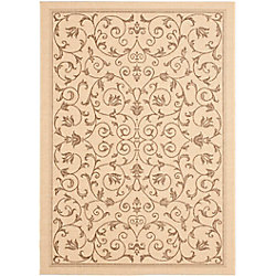 Safavieh Courtyard Marc Natural / Brown 8 ft. x 11 ft. Indoor/Outdoor Area Rug