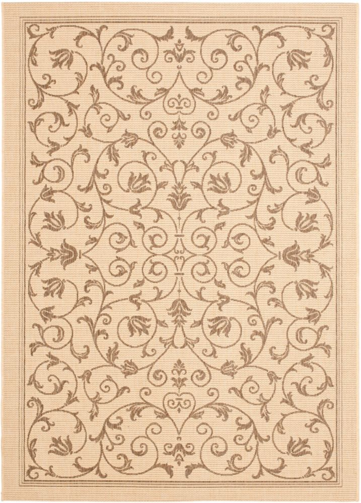 Courtyard Marc Natural / Brown 8 ft. x 11 ft. Indoor/Outdoor Area Rug