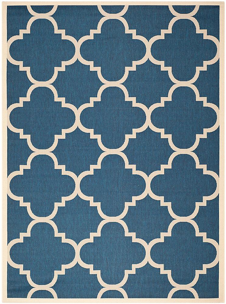 Carpette de passage d'intérieur/extérieur, 8 pi x 11 pi, bleu Courtyard