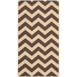 Safavieh Courtyard Jax Dark Brown 2 ft. x 3 ft. 7 inch Indoor/Outdoor Area Rug