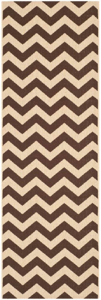 Safavieh Courtyard Jax Dark Brown 2 ft. 3 inch x 6 ft. 7 inch Indoor/Outdoor Runner