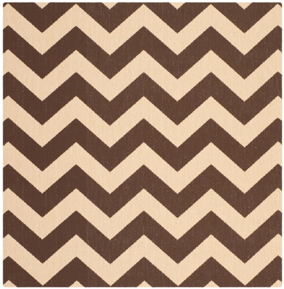 Safavieh Courtyard Jax Dark Brown 4 ft. x 4 ft. Indoor/Outdoor Square Area Rug