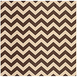 Safavieh Courtyard Jax Dark Brown 7 ft. 10 inch x 7 ft. 10 inch Indoor/Outdoor Square Area Rug