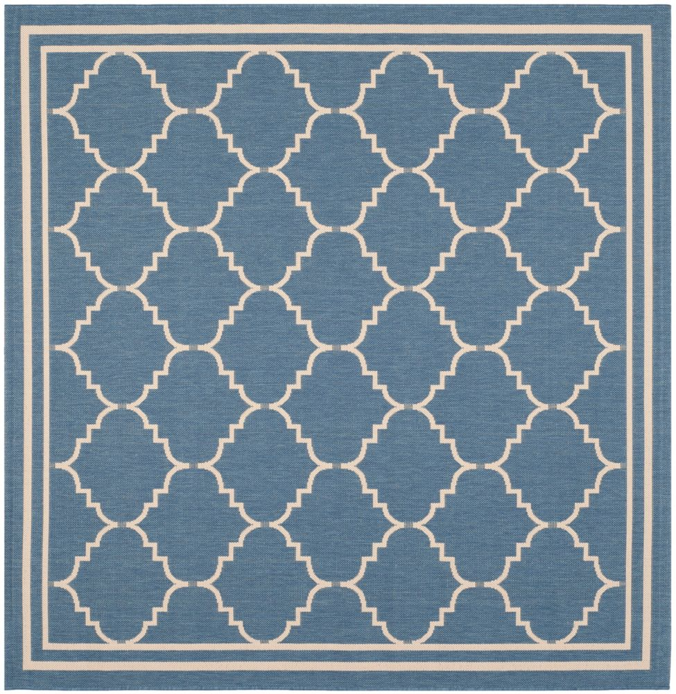 Safavieh Courtyard Jerry Blue / Beige 6 ft. 7 inch x 6 ft. 7 inch Indoor/Outdoor Square Area Rug