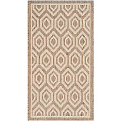 Safavieh Courtyard Larry Brown / Bone 2 ft. x 3 ft. 7 inch Indoor/Outdoor Area Rug