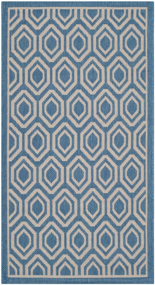 Safavieh Courtyard Blue 2 ft. 7-inch x 5 ft. Indoor/Outdoor Rectangular Area Rug - CY6902-243-3