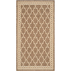 Safavieh Courtyard Bart Dark Beige / Beige 2 ft. x 3 ft. 7 inch Indoor/Outdoor Area Rug