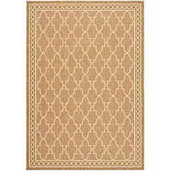 Safavieh Courtyard Bart Dark Beige / Beige 4 ft. x 5 ft. 7 inch Indoor/Outdoor Area Rug