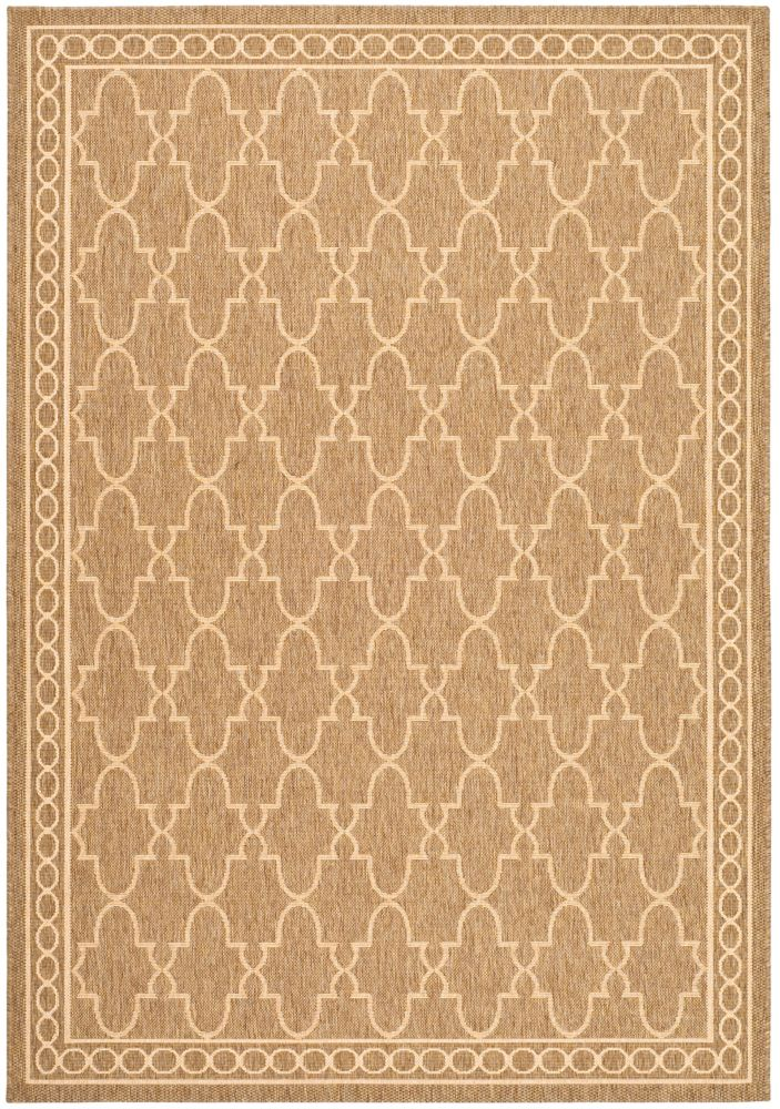 Safavieh Courtyard Bart Dark Beige / Beige 6 ft. 7 inch x 9 ft. 6 inch Indoor/Outdoor Area Rug