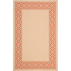 Safavieh Courtyard Jessy Cream / Terracotta 4 ft. x 5 ft. 7 inch Indoor/Outdoor Area Rug