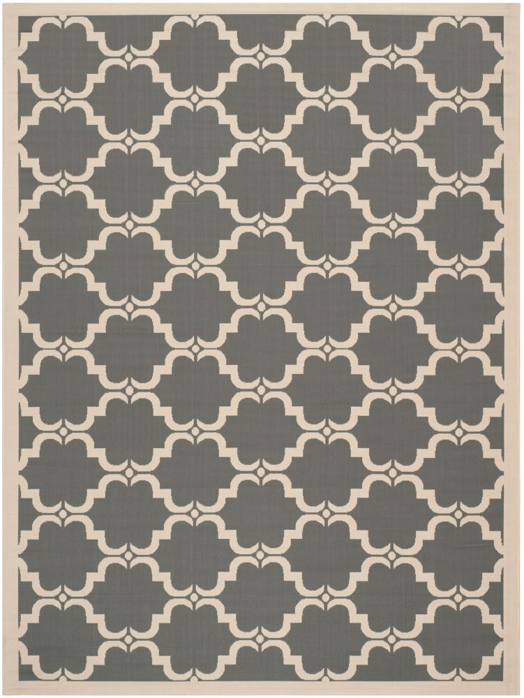 Safavieh Courtyard Don Anthracite / Beige 5 ft. 3 inch x 7 ft. 7 inch Indoor/Outdoor Area Rug