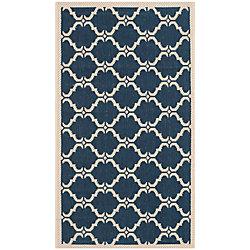 Safavieh Courtyard Blue 2 ft. 7-inch x 5 ft. Indoor/Outdoor Rectangular Area Rug - CY6009-268-3