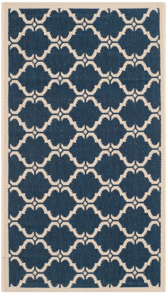 Safavieh Courtyard Blue 2 ft. 7-inch x 5 ft. Indoor/Outdoor Rectangular Area Rug - CY6009-268-3