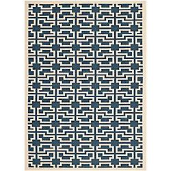 Safavieh Courtyard Blue 5 ft. 3-inch x 7 ft. 7-inch Indoor/Outdoor Rectangular Area Rug - CY6015-268-5