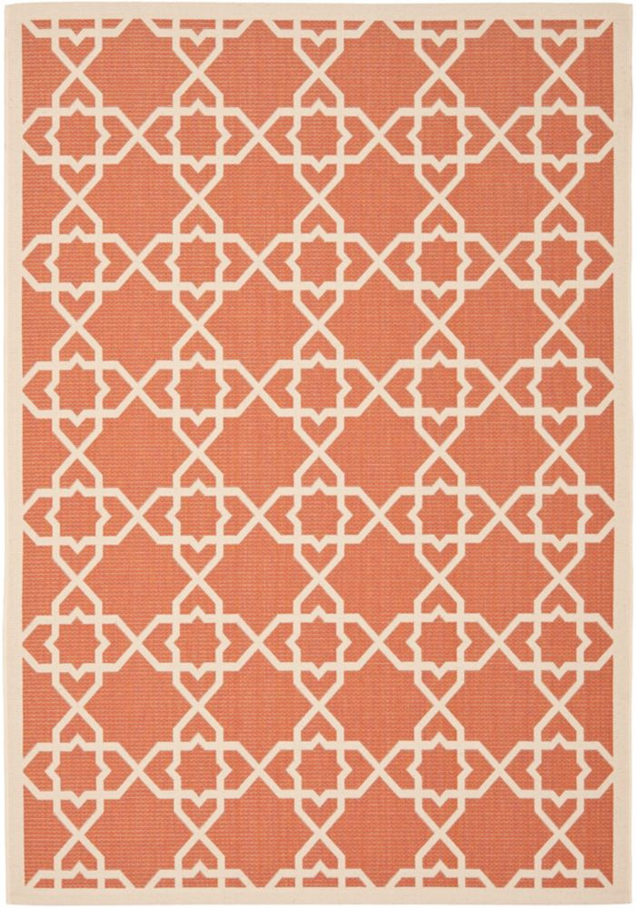 Safavieh Courtyard Jared Terracotta / Beige 5 ft. 3 inch x 7 ft. 7 inch Indoor/Outdoor Area Rug
