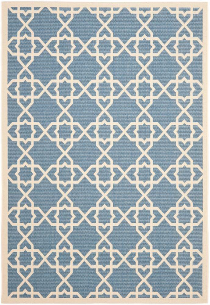 Safavieh Courtyard Blue 5 ft. 3-inch x 7 ft. 7-inch Indoor/Outdoor Rectangular Area Rug - CY6032-243-5
