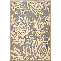 Safavieh Courtyard Dylan Grey / Natural 6 ft. 7 inch x 9 ft. 6 inch Indoor/Outdoor Area Rug