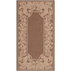 Safavieh Courtyard Eden Chocolate / Natural 2 ft. 7 inch x 5 ft. Indoor/Outdoor Area Rug