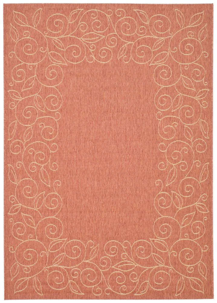 Courtyard Zak Terracotta / Beige 4 ft. x 5 ft. 7 inch Indoor/Outdoor Area Rug