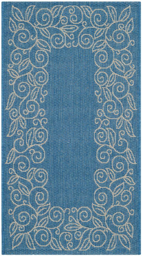 Courtyard Blue 2 ft. 7-inch x 5 ft. Indoor/Outdoor Rectangular Area Rug - CY5139C-3
