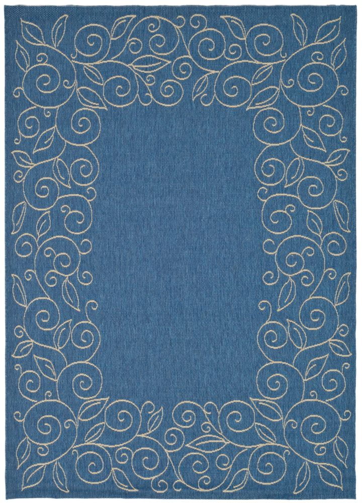 Safavieh Courtyard Blue 5 ft. 3-inch x 7 ft. 7-inch Indoor/Outdoor Rectangular Area Rug - CY5139C-5