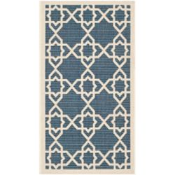 Safavieh Courtyard Jared Navy / Beige 4 ft. x 5 ft. 7 inch Indoor/Outdoor Area Rug