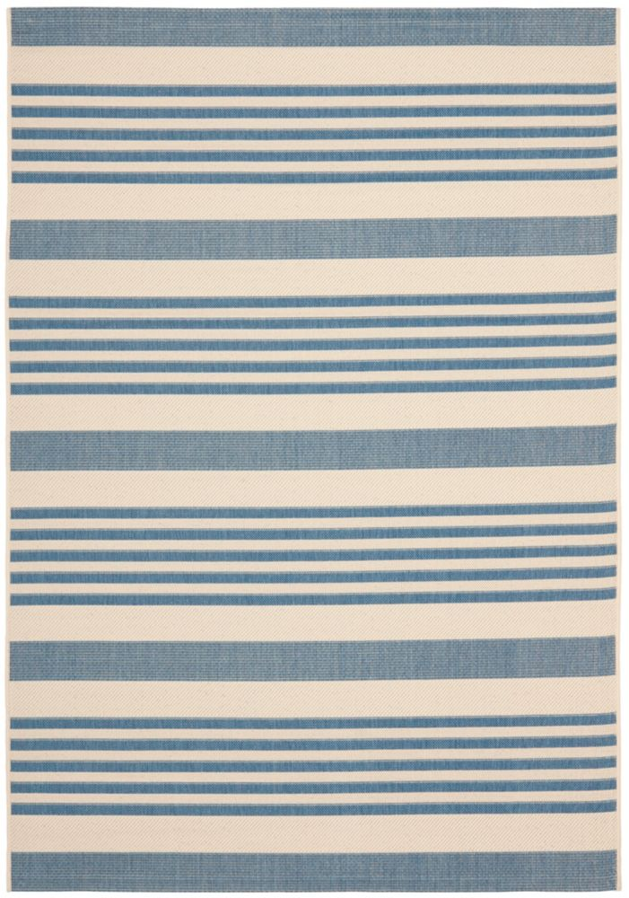 Courtyard Blue 5 ft. 3-inch x 7 ft. 7-inch Indoor/Outdoor Rectangular Area Rug - CY6062-233-5