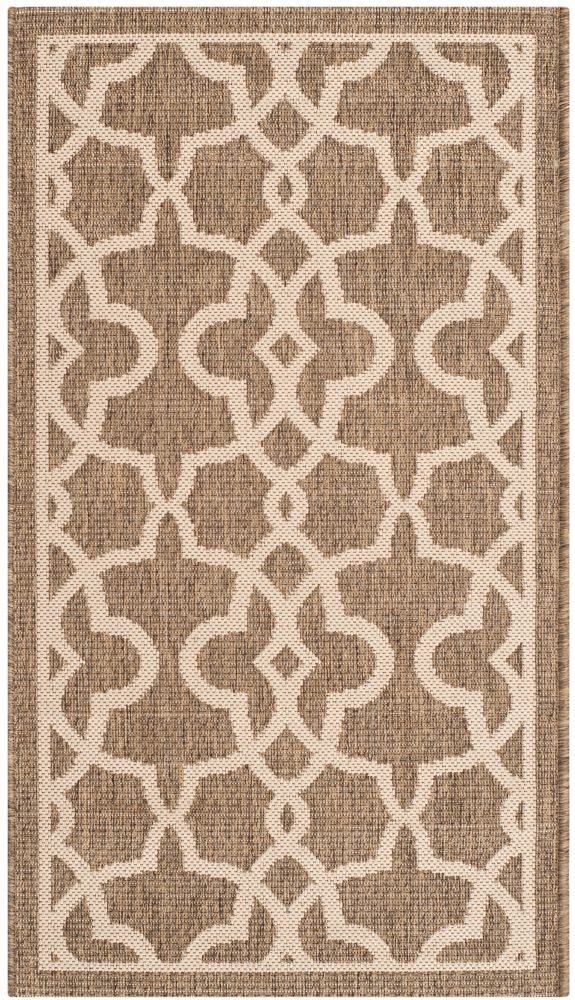 Safavieh Courtyard Jane Mocha / Beige 2 ft. x 3 ft. 7 inch Indoor/Outdoor Area Rug