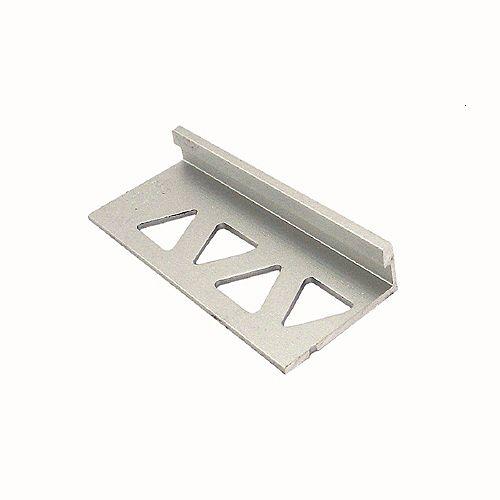PROVA inch (6mm) Tile Edge 8 ft - Satin Titanium