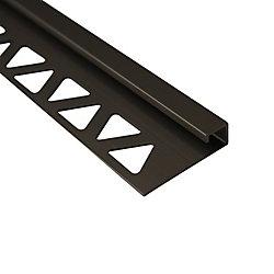 Shur Trim 1/2 inch (12 mm) Square Tile Edge 8 ft Satin Titanium