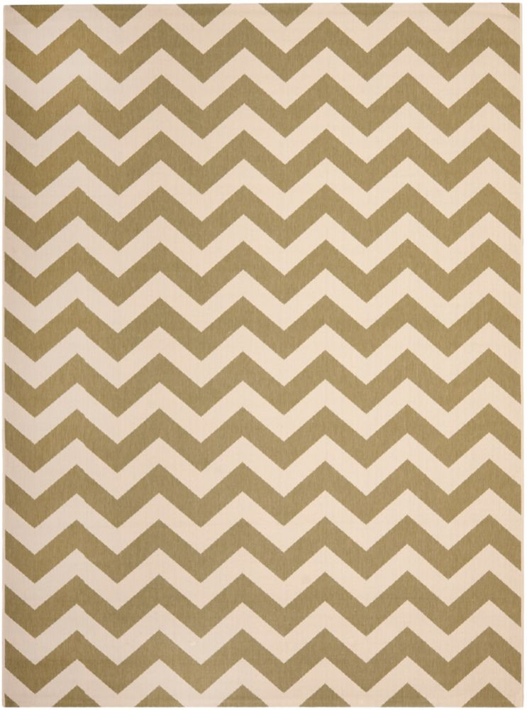 Safavieh Courtyard Jax Green / Beige 8 ft. x 11 ft. Indoor/Outdoor Area Rug
