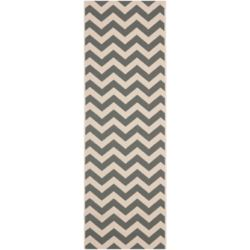 Safavieh Courtyard Jax Grey / Beige 2 ft. 3 inch x 10 ft. Indoor/Outdoor Runner