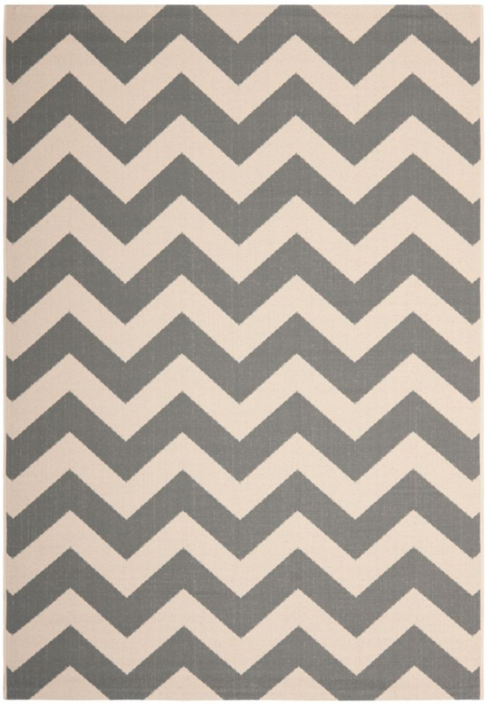 Safavieh Courtyard Jax Grey / Beige 4 ft. x 5 ft. 7 inch Indoor/Outdoor Area Rug