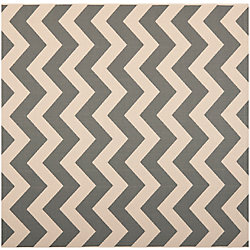 Safavieh Courtyard Jax Grey / Beige 5 ft. 3 inch x 5 ft. 3 inch Indoor/Outdoor Square Area Rug