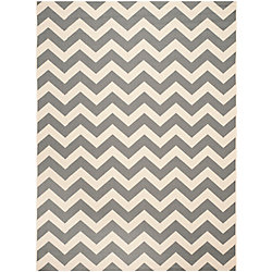 Safavieh Courtyard Jax Grey / Beige 6 ft. 7 inch x 9 ft. 6 inch Indoor/Outdoor Area Rug
