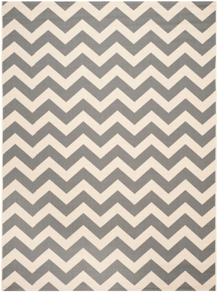 Courtyard Jax Grey / Beige 6 ft. 7 inch x 9 ft. 6 inch Indoor/Outdoor Area Rug