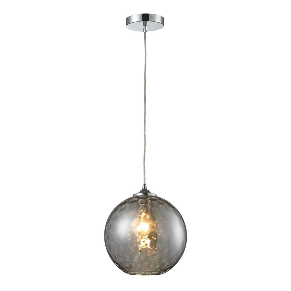 Watersphere 1-Light Polished Chrome Ceiling Mount Pendant