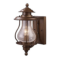 Titan Lighting Wikshire 1-Light Wall Mount Outdoor Coffee Bronze Sconce