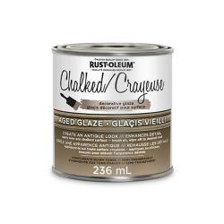 Rust-Oleum Chalked Decorative Glaze In Semi Transparent Aged Glaze, 236 Ml