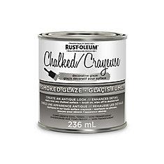 Crayeuse glacis décoratif pour surface glacis fumé 236ml