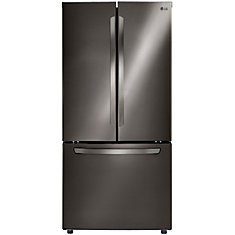 22 cu. ft. 3-Door French Door Refrigerators with Smart Cooling System in Black Stainless Steel - ENERGY STAR®