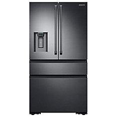 36 Inch 23.0 cu.ft, Counter Depth, Black Stainless Steel Refrigerator RF23M8090SG - ENERGY STAR®