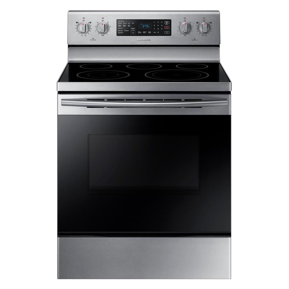 30-inch 5.9 cu.ft Freestanding Range with Fan Convection in Stainless Steel