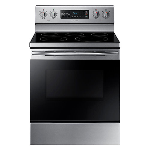 30-inch 5.9 cu.ft Single Oven Electric Range with Self-Cleaning Convection Oven in Stainless Steel