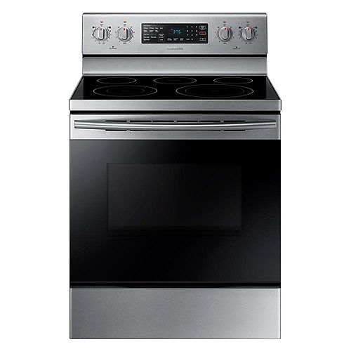 Samsung 5.9 cu.ft Single Oven Electric Range with Self-Cleaning Convection Oven in Stainless Steel