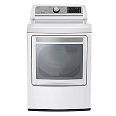 7.3 cu. ft. Front Load Dryer with TurboSteam in White