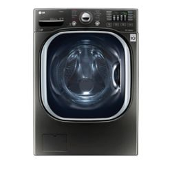 LG Electronics 5.2 cu. ft. Ultra Large Capacity Front Load TurboWash Washer in Black Stainless Steel - ENERGY STAR®