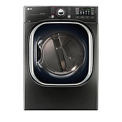 7.4 cu. ft. Ultra Large Capacity Electric Steam Dryer in Black Stainless Steel - ENERGY STAR®