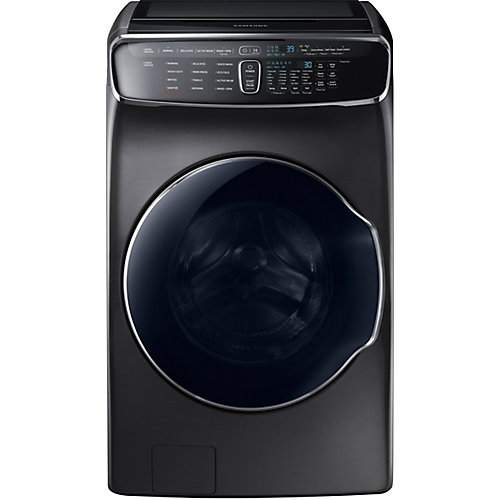 5.7 cu. ft. Front Load Washer with Small Load Compartment in Black Stainless Steel - ENERGY STAR®