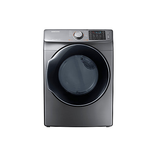7.5 cu. ft. Front Load Electric Dryer with Steam in Platinum - ENERGY STAR®